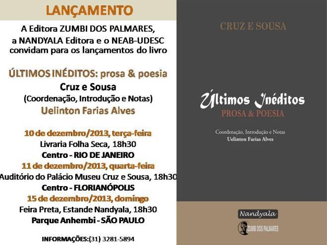 Convite - +ÜLTIMOS IN+ëDITOS de Cruz e Sousa